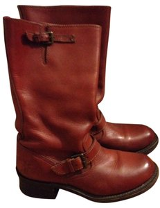 Frye Engineer Red Wood Boots