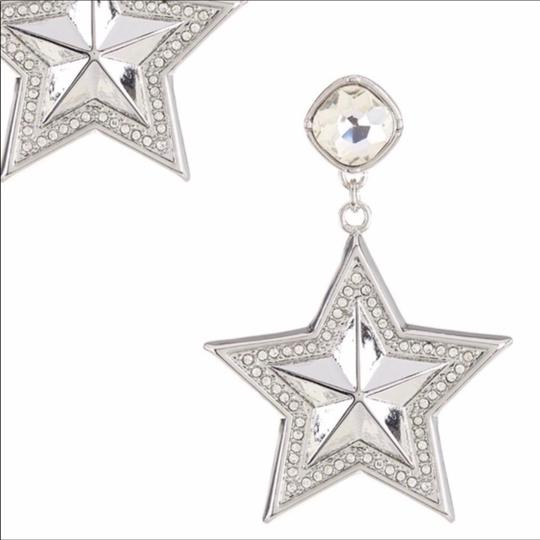 BCBGeneration BCBGENERATION CRYSTAL PAVE STAR STATEMENT EARRINGS Image 3