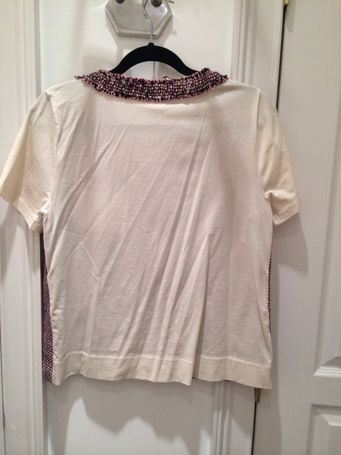 J.Crew Top Pink/black/cream