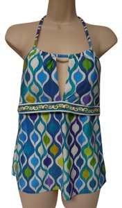 Trina Turk Trina Turk tankini halter top with built-in bra