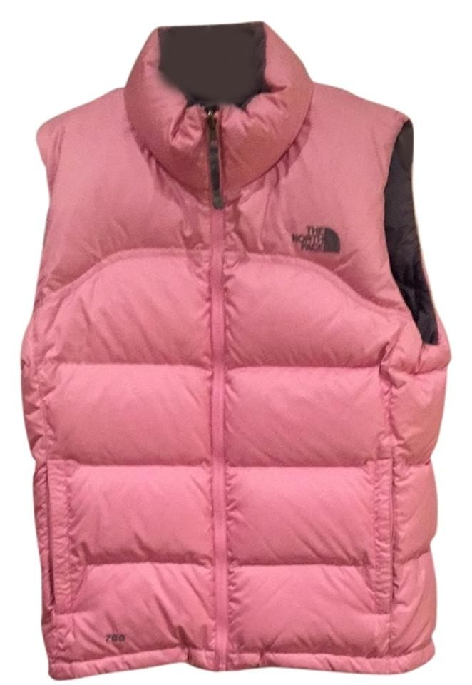 a2a4cb56ff The North Face Light Pink Grey Nuptse Vest Size 8 (M) - Tradesy