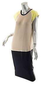 Reed Krakoff short dress Black, Beige Cashmere Suede Wool on Tradesy