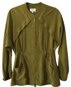 Hyden Yoo Silk Green Olive Jacket