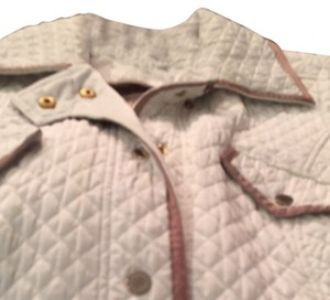 Made in Italy By Luisa Spanoli Off white Border trim ten Jacket