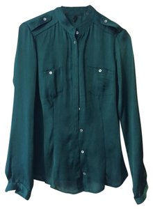 United Colors of Benetton Silk Top Emerald