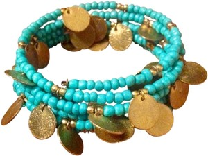 Belk Teal Gold Bangle