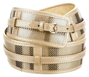 Burberry Metallic embossed leather Burberry Nova Check waist belt