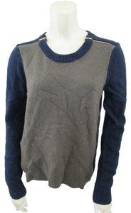 J.Crew Color-blocking Wool Zipper Sweater