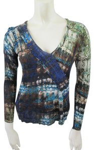 NIC+ZOE Silk Linen Longsleeve Top Multi-Color