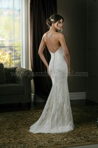 Jasmine Bridal Jasmine Halter Beaded Front Wedding Dress