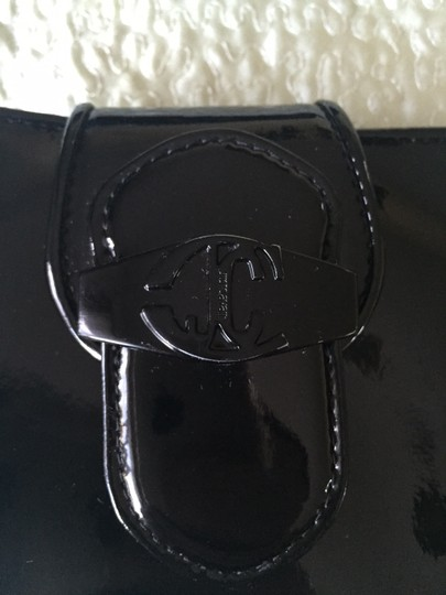 Just Cavalli JUST CAVALLI black patent leather wallet.
