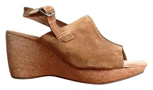 Clarks Light Brown Wedges