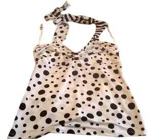 Other Dot black and white polka dots Halter Top