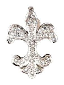 Best Price - 18k white gold 1/3 ct diamond fleur-de-lis pendant