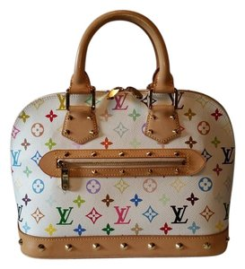 Louis Vuitton Satchel in White Multi