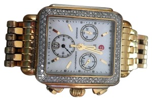 Michele Diamond Gold Watch