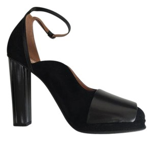 Dries van Noten Leather Suede Cap Toe BLACK Platforms
