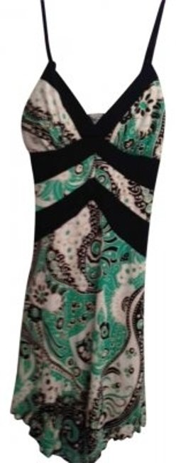 Item - Green Paisley Patterned Hankerchief Festival Hippie Spring Summer Above Knee Short Casual Dress Size 6 (S)