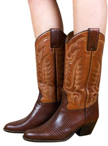 Andre Assous Vintage Western Cowboy Boho Leather brown Boots