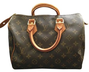 Louis Vuitton Monogram Canvas Speedy Satchel in Brown