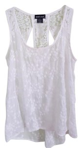 Wet Seal Lace Lace Top White