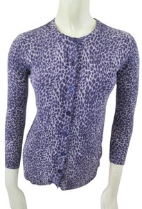 Doncaster Cashmere Animal Print Cardigan