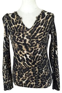 Lucky Brand T Shirt Cheetah Print