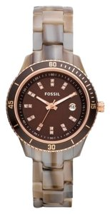 Fossil STELLA MINI THREE HAND RESIN WATCH - ALPINE HORN ES3094P