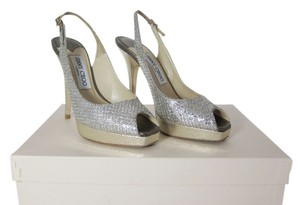 Jimmy Choo Wedding Bridal Pumps Heels Champagne Glitter Formal