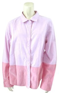 J.Crew Color-blocking Oxford Longsleeve Cotton Button Down Shirt Pink