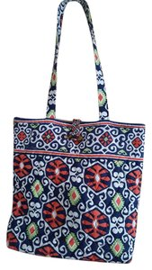 Vera Bradley Tote in Navy/Orange