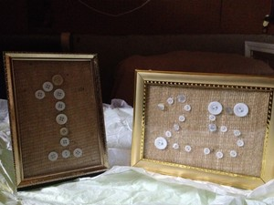 Gold Framed Table Numbers 1-25