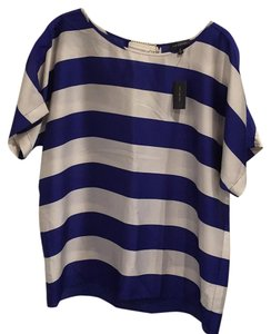 The Limited Pet Smoke Free Top Blue and White