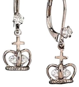 Betsey Johnson Betsey Vintage Crown Earrings