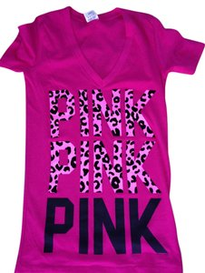 PINK Victoria's Secret Cheetah New T Shirt Pink Cheetah