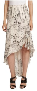 Haute Hippie Feather Dagger Print Maxi Skirt White