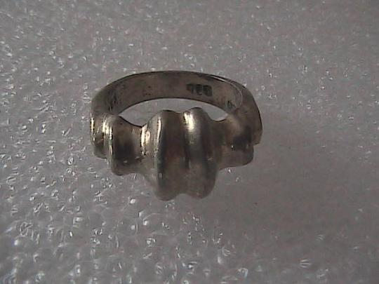 Vintage Mexico Sterling Silver Band Ring Image 3