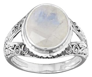 NEW Arrival NEW Oxidized Ornate Rainbow Moonstone Ring (available sizes 5-10)