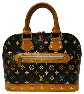 Louis Vuitton Neverfull Speedy Artsy Brown Satchel in Black Multicolor
