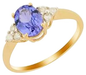 Jacque Christie Size 7 AA Tanzanite & Diamonds 14K Gold Ring ATGW 1.27cts