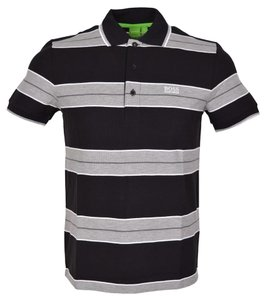 Hugo Boss Polo Golf T Shirt Black and Grey