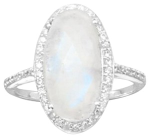 Gorgeous Rainbow Moonstone Ring (available sizes 5-11)