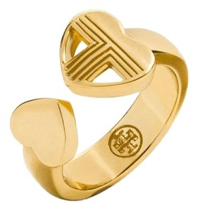 Tory Burch Tory Burch Adeline Fret Ring - One Size Fits Most 16k Gold