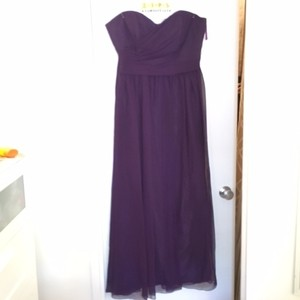 Impression Bridal Eggplant Dress