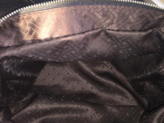 Cole Haan Satchel in Black pebbled leather