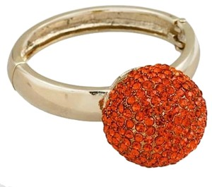 Other Rhinestone Crystal Orange Harvest Cuff Bracelet Bangle