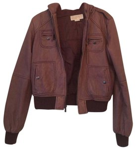 MICHAEL Michael Kors Brown Leather Jacket