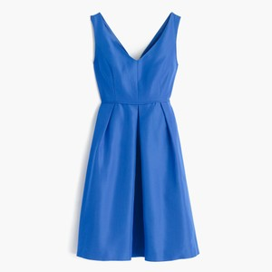 J.Crew Bright Grotto Kami Dress In Classic Faille Dress