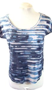 Rachel Roy Signature T Shirt Blue Watercolor