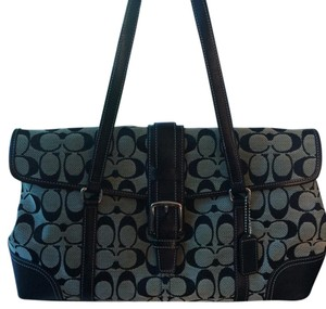 Coach Satchel in Blk/Gray